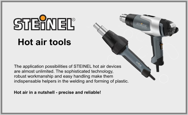 Steinel Hot air tools by az-reptec | Hot air precise and reliable