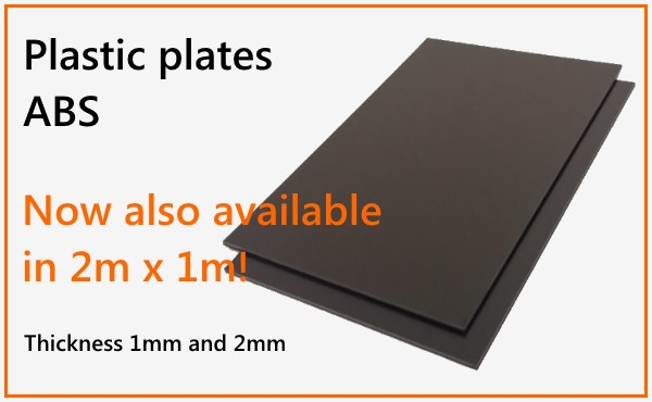 Plastic plates ABS 2m x 1m by az-reptec | Top Quality from Germany