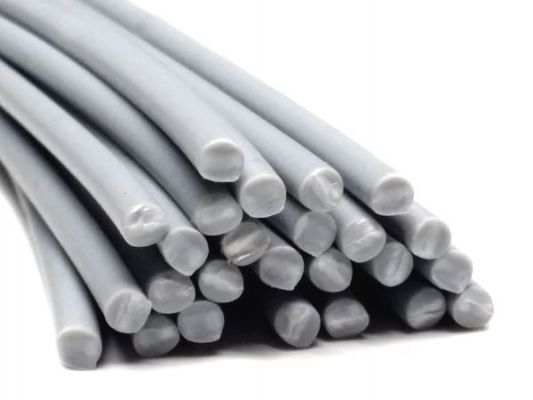 Plastic welding rods PP 4mm Round Gray (RAL7040) 25 rods