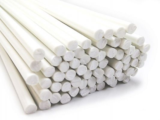 Plastic welding rods PVC-U Rigid 4mm Round White 25 bars