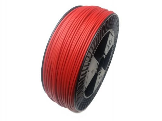 Plastic welding rod PE-HD 4mm Round Red (RAL3020) 2,4 kg Coil