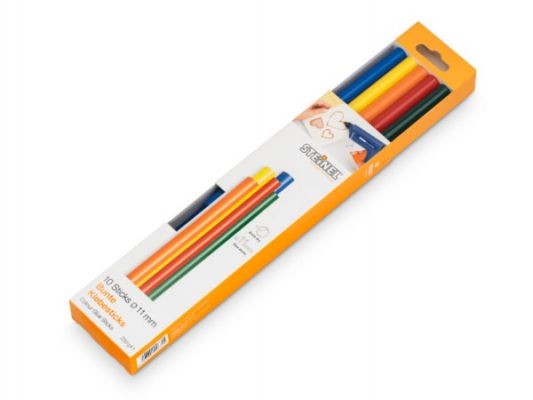 Glue sticks 11 mm Steinel Color 5 different colors | 10 pieces 250 g