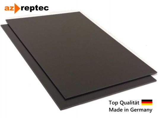 Plastic plate ABS 2mm Black 2000 x 1000 mm (2m x 1m) Protective foil one side and Made in Germany