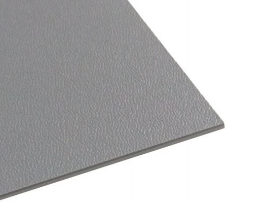 Plastic plate ABS/ASA medium grained 2mm Gray 500 x 300 mm
