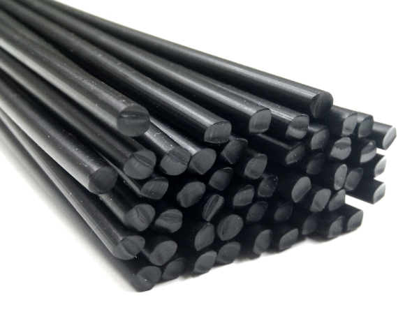 black. 5mm round 10 metres HDPE Plastic Welding Rod
