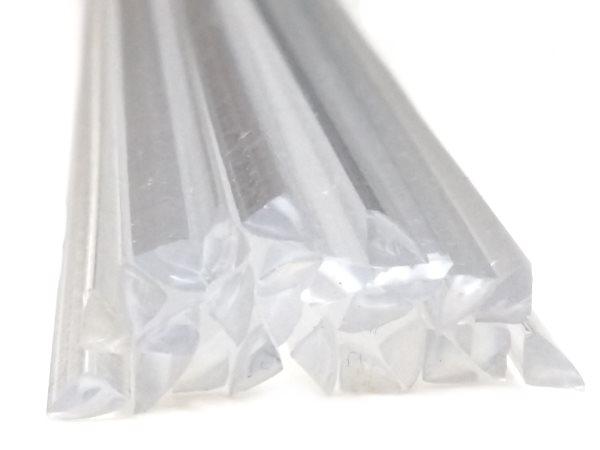 Kunststoffschweißdraht PC 4mm Dreikant Schwarz 25 Stäbe