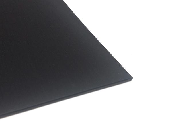 Kunststoffplatte PS 2mm Schwarz 300 x 200 mm