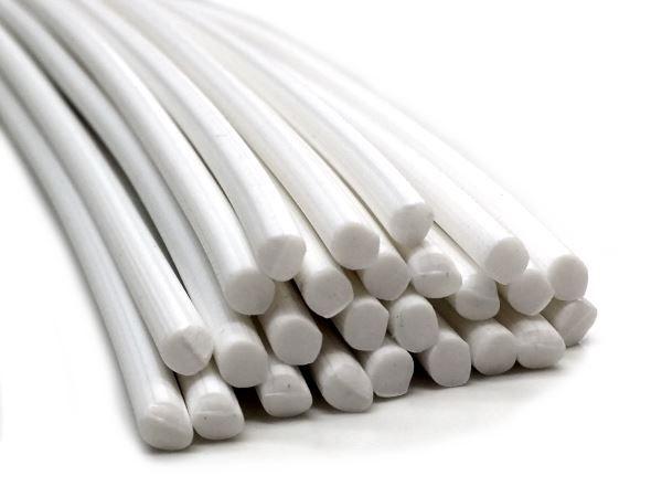 80x100 PE Kunststoffrundmaterial Weiß